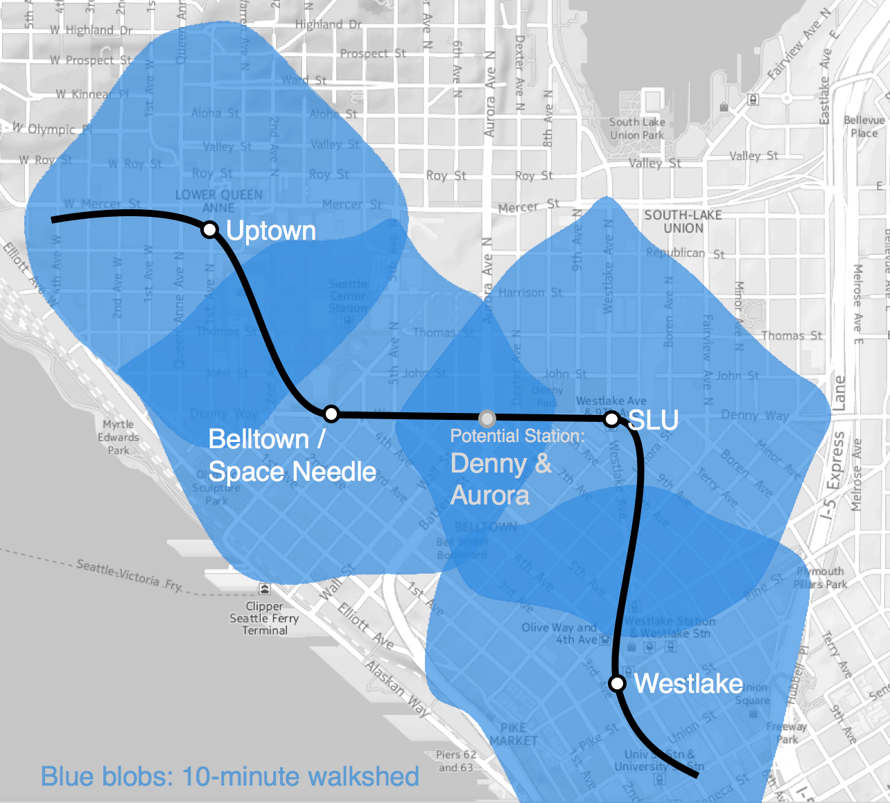 Anton's proposed Belltown alignment. (Anton Babadjanov)