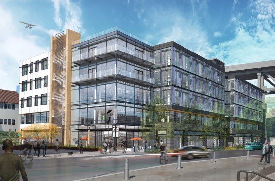 Milstead is going back in once the new 108,777 square foot office building is done. Cafe Turko is staying at its new location. (Weber Thompson)