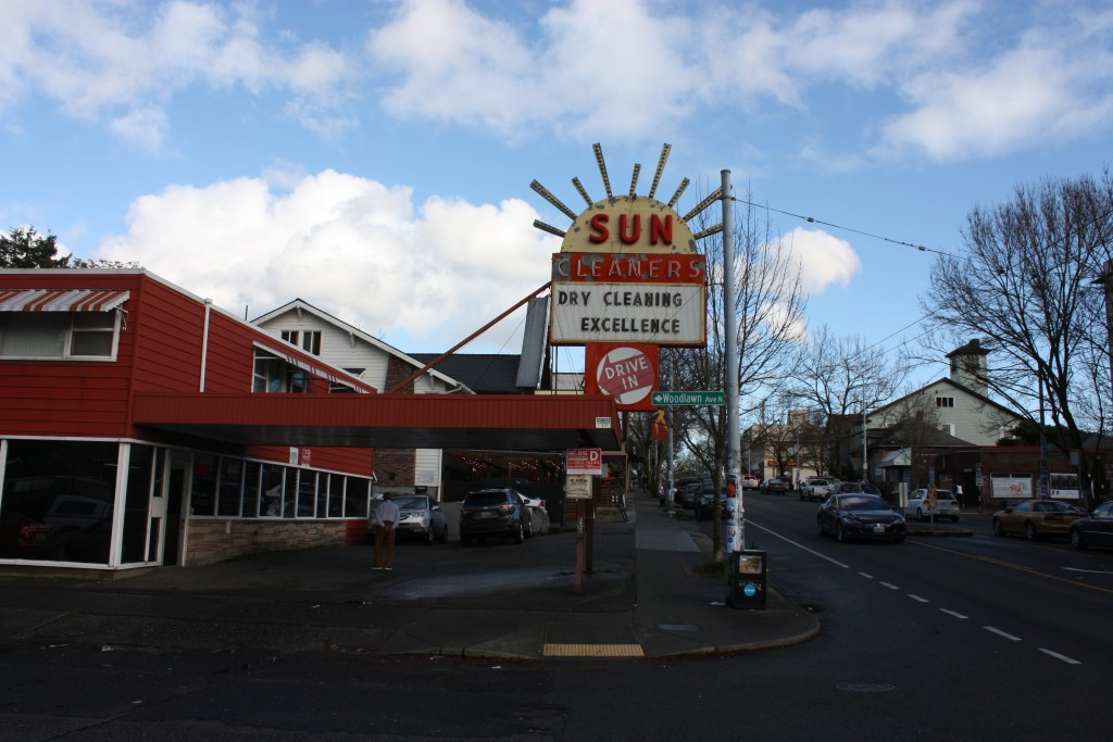 Sun Cleaners has an old Seattle charm or at least the sign does. Perhaps, a new building could preserve the sign?