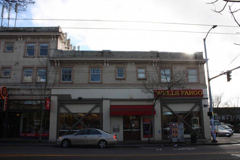Not to be outdone, Wells Fargo also went with a hideous renovation for its Wallingford branch.