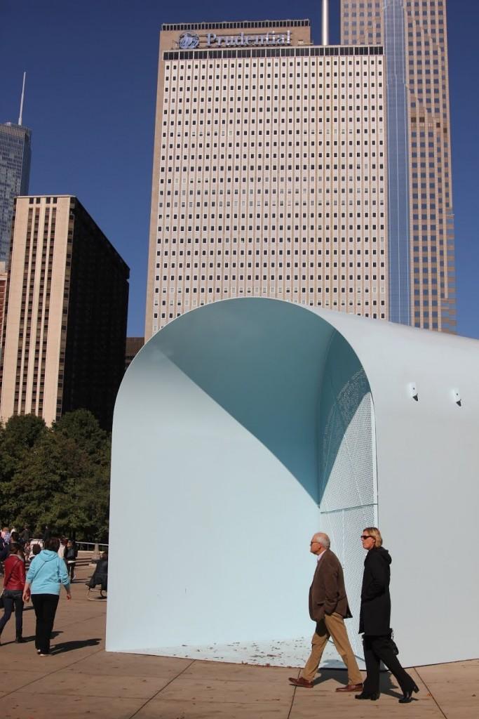 Summer Vault installation in Millennium Park. Photo by Sarah Oberklaid.