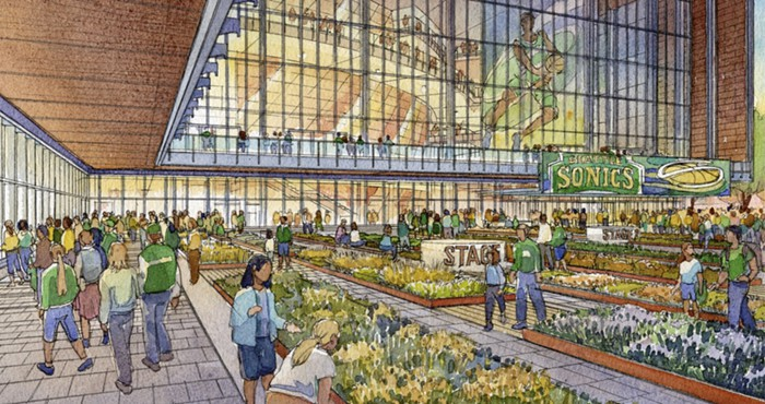The proposal seems to include green space, but a street it is not. (Seattle Arena)