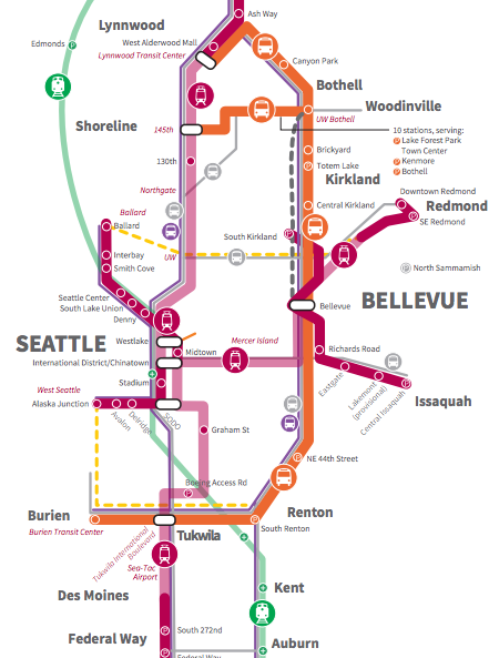 Updated Sound Transit 3 draft plan map. (Sound Transit)