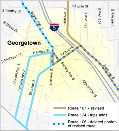 The Georgetown Deviation on the new 107.