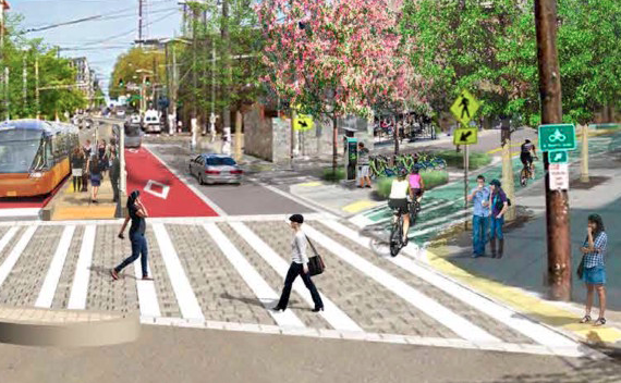 SDOT concept plan for Madison and 12th Ave encapsulates the city's near term multi-modal vision. (City of Seattle)
