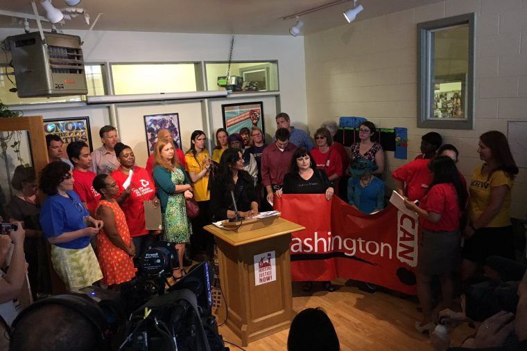Sawant announces her new bill to cap move-in fees. (City of Seattle)