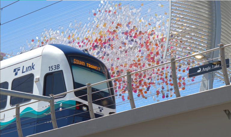 Angle Lake is the current southern terminus of Link, but the Federal Way Link Extension will add three stations to the south. (Sound Transit)