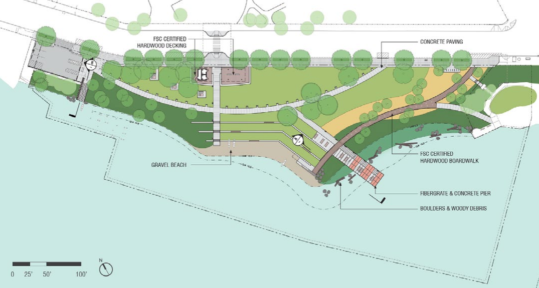 Latest design of Portage Bay Park. (City of Seattle)