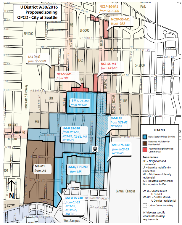 The Mayor's rezone proposal. Click for a larger version. (City of Seattle)
