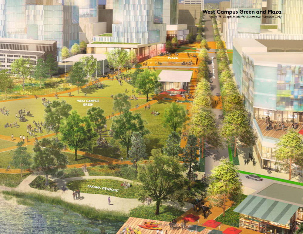 The University of Washington's grand plan for open space in West Campus. (University of Washington)
