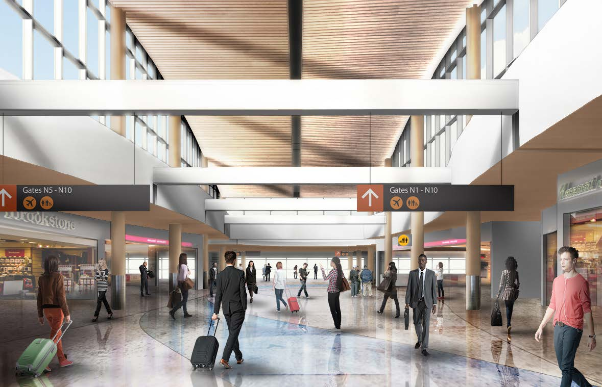Sea tac airport 39 s new international arrivals facility and for International decor gates