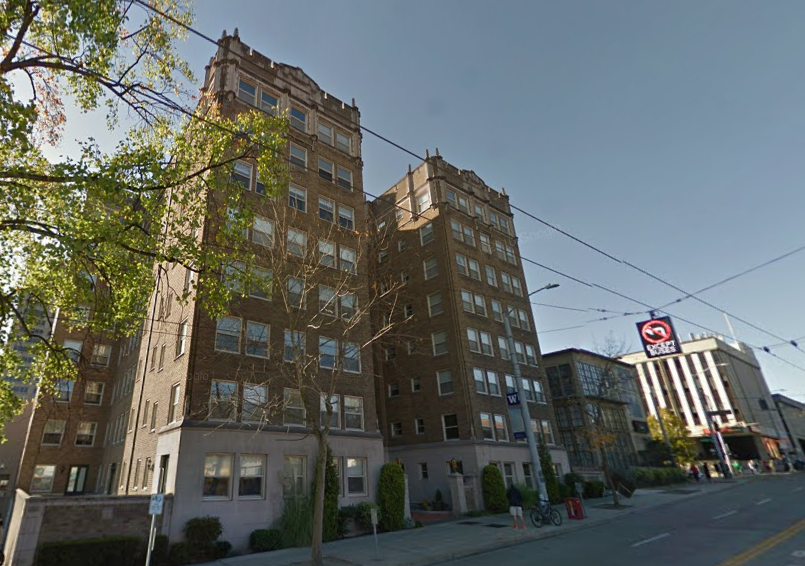 The Malloy Apartments were highlighted in both SDC report and The Seattle Times article. They account for 8% of SDC's estimated displacement. (Google Streetview)