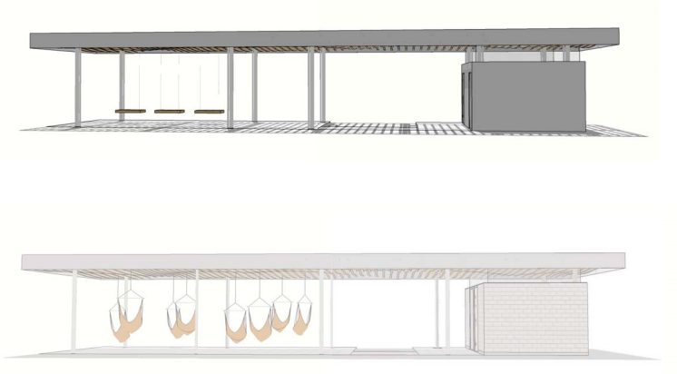 Boat Street pavilion concept. (Walker/Macy / City of Seattle)