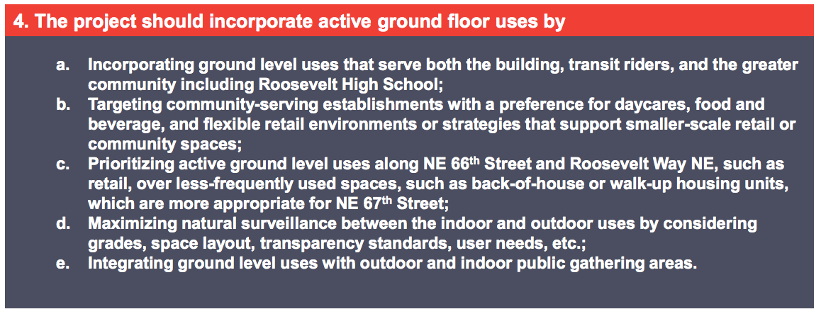 Active ground floor principles for TOD. (Sound Transit)