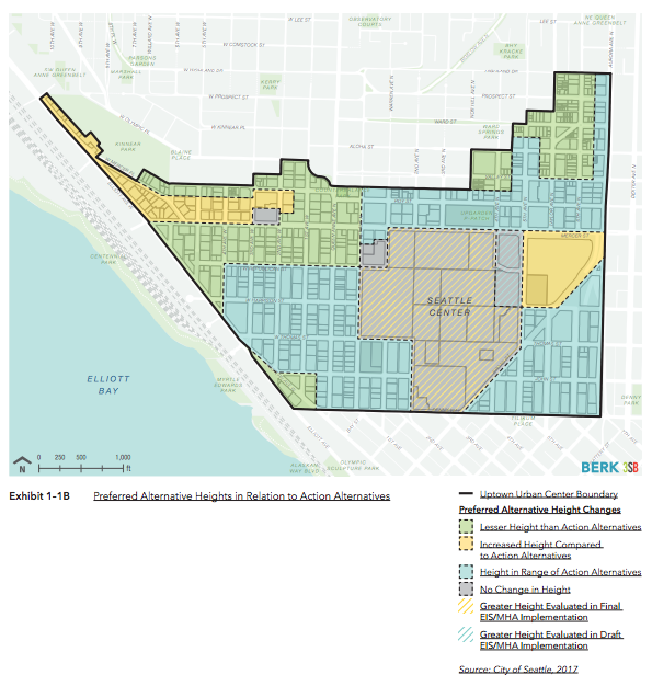 Relationship of the Preferred Alternative to Alternatives 2 and 3. (BERK / 3SB / City of Seattle)