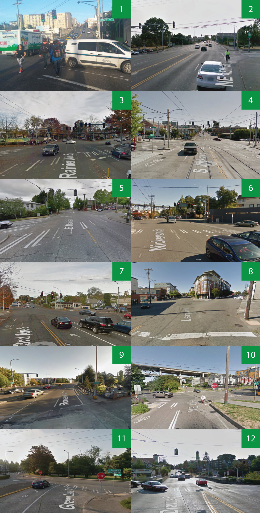 This year's 12 worst intersection candidates.