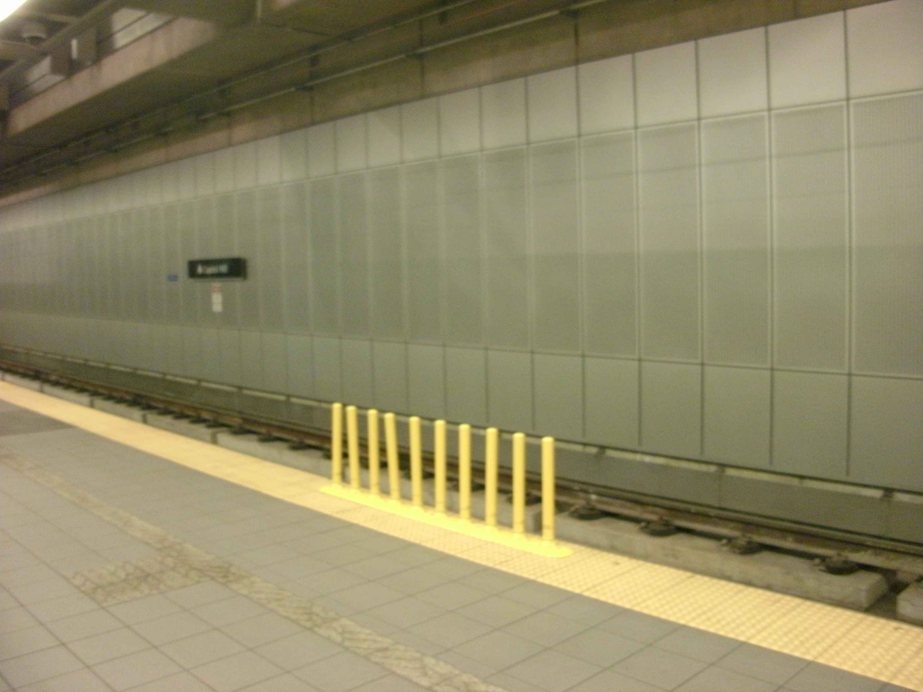 Sound transit is using bollard strips along platforms for the safety barriers.