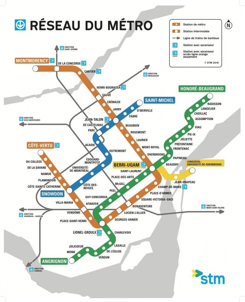 La Metro Map 2018.Map Of The Week Montreal Metro The Urbanist